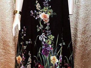 Платье из штапеля,/ Назови Свою Цену. Ярмарка Мастеров - ручная работа, handmade.