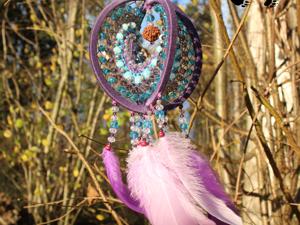 Ловец снов Мёбиус  «Сирень» , около 25 см. Ярмарка Мастеров - ручная работа, handmade.
