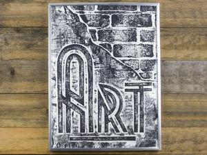 Engraving Imitation on Cardboard: Loft Style Poster. Livemaster - handmade