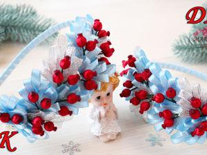 Видео мастер-класс: Делаем ободок «Зимние ягодки». Ярмарка Мастеров - ручная работа, handmade.