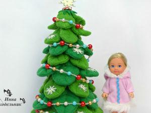 Видео мастер-класс: создаем текстильную елочку для кукол. Ярмарка Мастеров - ручная работа, handmade.