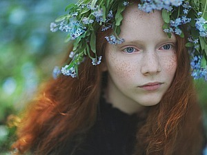 Facets of the Beauty of the World, or 12 Months of Red-haired Girl's Life by the Eyes of Lena Kap. Livemaster - handmade
