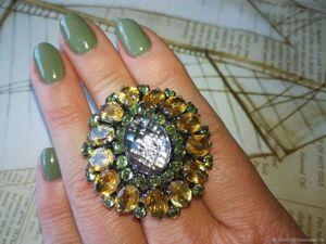 Роскошное кольцо уже со скидкой!!!. Ярмарка Мастеров - ручная работа, handmade.