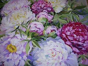 """Живопись масляными красками: рисуем картину """"Пионы"""". Ярмарка Мастеров - ручная работа, handmade."""