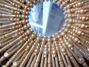 Мастерим интерьерное зеркало-солнце. Ярмарка Мастеров - ручная работа, handmade.