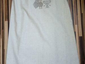Шьём килт для бани с вышивкой крестом и филейным кружевом. Ярмарка Мастеров - ручная работа, handmade.