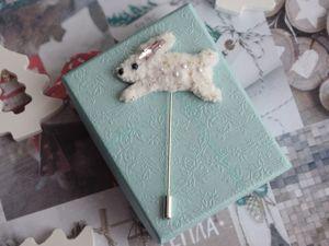 Видео брошь бегущий белый кролик. Ярмарка Мастеров - ручная работа, handmade.
