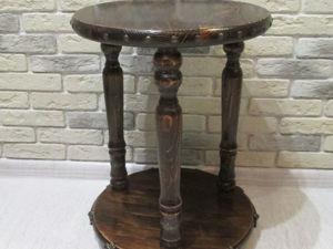 Мастерим кофейный столик с «коваными» элементами. Ярмарка Мастеров - ручная работа, handmade.