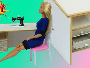 Как сделать рабочий стол для куклы. Ярмарка Мастеров - ручная работа, handmade.
