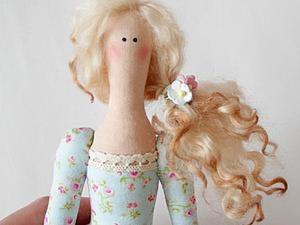 Делаем причёску для текстильной куклы. Ярмарка Мастеров - ручная работа, handmade.
