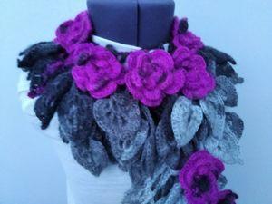 Авторские оригинальные шарфики от 1200 руб. Ярмарка Мастеров - ручная работа, handmade.