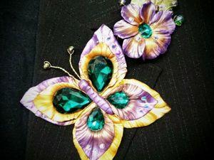 Видео мастер-класс: как сделать винтажную бабочку. Ярмарка Мастеров - ручная работа, handmade.
