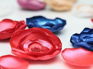 Цветок из ткани. Ярмарка Мастеров - ручная работа, handmade.