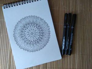 Медитативное творчество: рисуем мандалу. Ярмарка Мастеров - ручная работа, handmade.