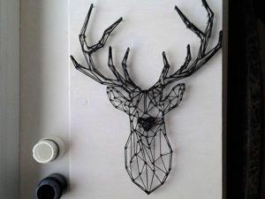 Создаем контурного оленя в технике String Art. Ярмарка Мастеров - ручная работа, handmade.