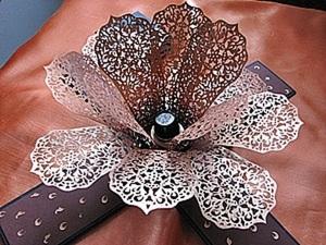 Создаем ажурный подсвечник из бумаги. Ярмарка Мастеров - ручная работа, handmade.