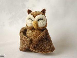 Войлочная игрушка Сова-обнимашка. Ярмарка Мастеров - ручная работа, handmade.