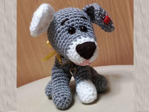 Вяжем крючком милую собачку. Часть 1. Ярмарка Мастеров - ручная работа, handmade.
