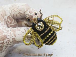 Делаем брошь «Пчелка». Ярмарка Мастеров - ручная работа, handmade.