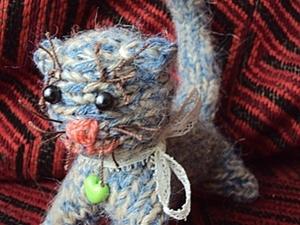 Легко!Котёнок вязаный спицами. Ярмарка Мастеров - ручная работа, handmade.