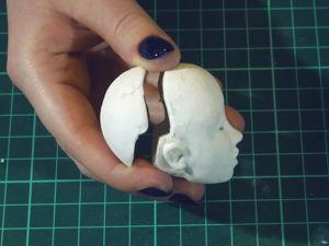 Как установить магнит шарнирной кукле BJD — подготовка к сборке — примерка глаз. Ярмарка Мастеров - ручная работа, handmade.