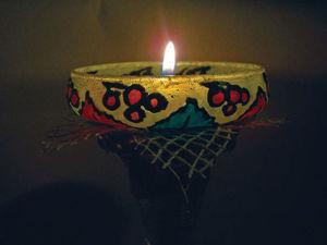 Мастер-класс по декорированию подсвечника «Осенний блюз». Ярмарка Мастеров - ручная работа, handmade.