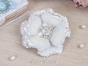 Видео броши объёмный цветок  « Блеск». Ярмарка Мастеров - ручная работа, handmade.