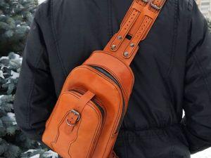 Новинка! Рюкзак  «Сити»  из натуральной кожи. Ярмарка Мастеров - ручная работа, handmade.