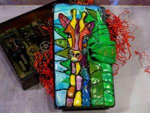 Создаем кошелек из полимерной глины. Лепим жирафа в технике мозайка. Ярмарка Мастеров - ручная работа, handmade.