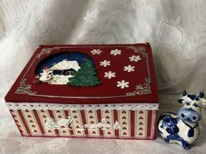 Подарочная новогодняя коробка. Ярмарка Мастеров - ручная работа, handmade.