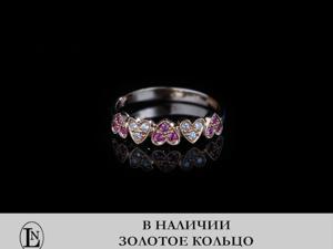 В наличии. Золотое кольцо с рубинами и бриллиантами. Ярмарка Мастеров - ручная работа, handmade.