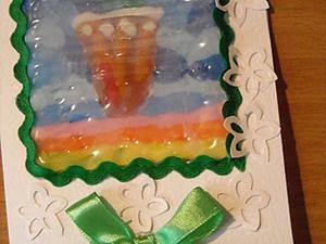 Делаем открытку в технике пластилиновой живописи. Ярмарка Мастеров - ручная работа, handmade.