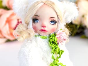Николь тедди долл авторская кукла, интерьерная  кукла подарок любимой. Ярмарка Мастеров - ручная работа, handmade.