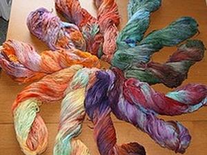 Многоцветное окрашивание пряжи, шерсти, шелка, волокон. Ярмарка Мастеров - ручная работа, handmade.