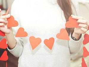 """Мастер-класс """"Гирлянда к дню святого Валентина"""". Ярмарка Мастеров - ручная работа, handmade."""