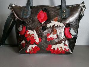 Аукцион на кожаные сумки с аппликацией. Ярмарка Мастеров - ручная работа, handmade.