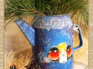 """Кувшин """"Новогодние сны"""". Мастер-класс от """"Base of Art"""".. Ярмарка Мастеров - ручная работа, handmade."""