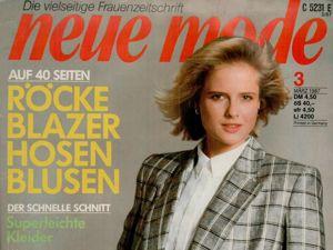 Neue mode 3 1987 (март). Ярмарка Мастеров - ручная работа, handmade.