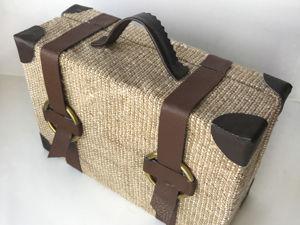 DIY Простая идея чемодана из картона. Ярмарка Мастеров - ручная работа, handmade.