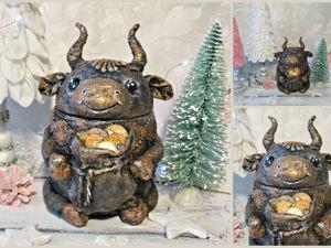 Символ года: шкатулка-бычок из консервной банки. Ярмарка Мастеров - ручная работа, handmade.