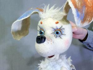 Планшетная театральная кукла Собачка Соня. Ярмарка Мастеров - ручная работа, handmade.