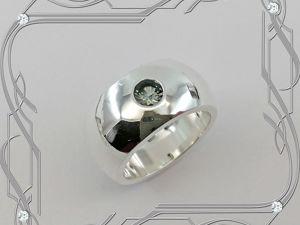Кольцо «Классика — VIP» серебро 925 пробы, сапфир. Ярмарка Мастеров - ручная работа, handmade.