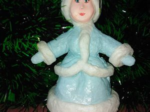 Создаем ёлочную игрушку Снегурочку. Ярмарка Мастеров - ручная работа, handmade.
