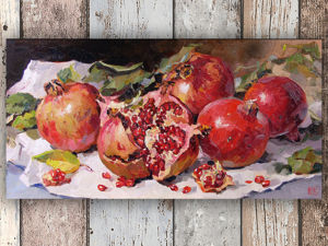 Живопись маслом, картина  «Гранатики» , фото в процессе работы. Ярмарка Мастеров - ручная работа, handmade.