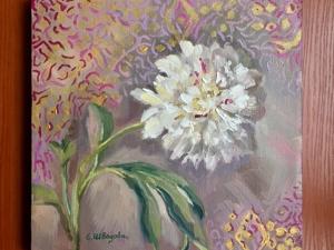 Белый пион — чистота и романтика. Ярмарка Мастеров - ручная работа, handmade.
