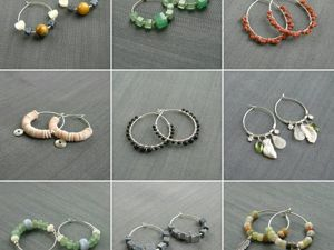 Серьги-кольца — новые поступления и работы на заказ. Ярмарка Мастеров - ручная работа, handmade.