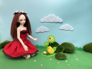 Как сделать Пасхальную локацию для фото с куклой БЖД Минифи. Идея для фото. Ярмарка Мастеров - ручная работа, handmade.