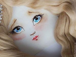 Пришиваем лицо кукле из ткани. Ярмарка Мастеров - ручная работа, handmade.