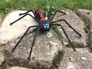 Как сделать паука из лампочки. Идеи поделок для сада. Ярмарка Мастеров - ручная работа, handmade.