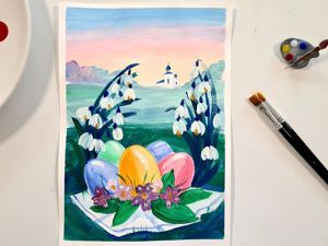 Рисуем пасхальный рисунок в пастельных тонах. Ярмарка Мастеров - ручная работа, handmade.